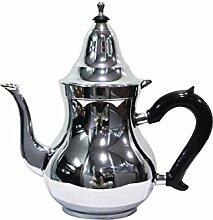 Marokkanische Teekanne aus Messing verchromt