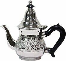 Marokkanische Teekanne aus Messing versilbert 0,2l