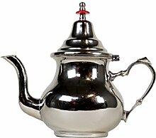 Marokkanische Teekanne aus Messing versilbert 0,8l