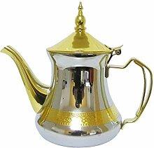 Marokkanische Teekanne Silber/Gold 650 ml