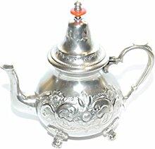 Marokkanische Teekanne versilberte Messing 1L