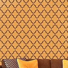 Marokkanische VIERPASS Spalier Schablone Heim Wand Dekor Muster Kunst & Basteln Schablone Farbe Wände Stoffe & Möbel 190 Mylar wiederverwendbar Schablone