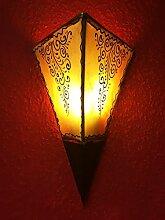 Marokkanische Wandlampe aus Leder Eshe Natur