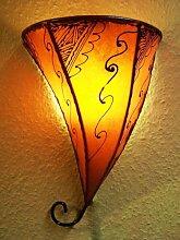 Marokkanische Wandlampe Farhad Orange