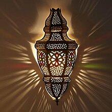 Marokkanische Wandleuchte Ayah aus Messing 51x23