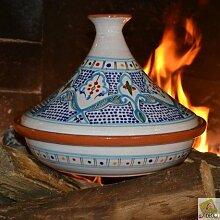 Marokkanischer Tajine türkis–D 31cm Traditionelles