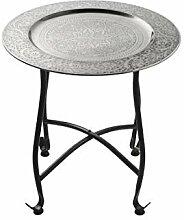 Marokkanischer Tisch Beistelltisch aus Metall Sule