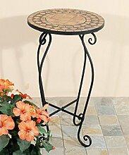 Marokkanischer Tisch rund Mosaiktisch Balkontisch