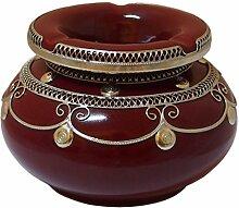 Marokkanischer Windaschenbecher Keramik Bordeaux