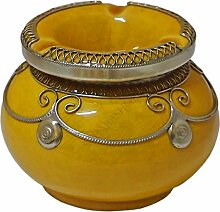 Marokkanischer Windaschenbecher Keramik Gelb