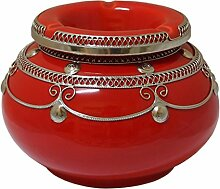 Marokkanischer Windaschenbecher Keramik Rot XXL