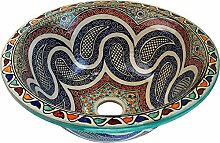 Marokkanisches Waschbecken aus Keramik von