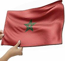 Marokko Flagge als Lampe aus Holz - schenke deine