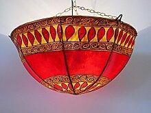 Marokko orientalische Decken Lampe Leuchte Henna Leder ø 40 cm