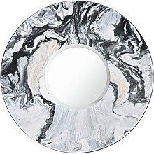 MARQUINA MARBLE Miroir 30 cm - Noir et blanc