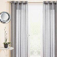 Marrakesh Eyelet Voile Curtain Panel Grey 54x90