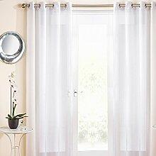 Marrakesh Eyelet Voile Curtain Panel White 54x72