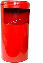 Mars Svratka Abfallkorb, Stahl, Rot, 20 Liter