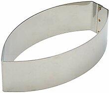 Martellato Edelstahl Backform, 20x 10cm, grau