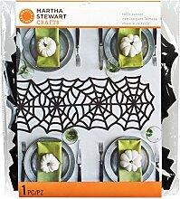 Martha Stewart Gothic Spitze Tischläufer, weiß