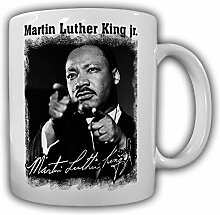 Martin Luther King jr_US amerikanischer Baptistenpastor und Bürgerrechtler Unterschrift Foto - Kaffee Becher Tasse #13611