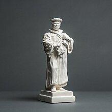 Martin Luther Skulptur aus hochwertigem Zellan,