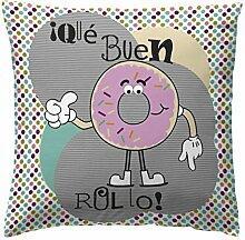 Martina Home Donut Kissen, Stoff, Mehrfarbig,