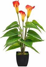 MARTINE MALL Künstliche Calla-Lilie, Topfpflanze,