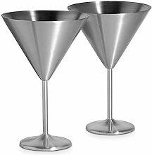 Martiniglas aus Edelstahl, kreatives Metall, 2