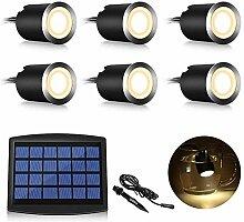Martll LED Solar Einbaustrahler, 6er Set LED