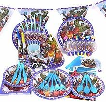 Marvel 's Avenger-Geburtstag Hochzeit Party Dekoration Geschirr Cartoon 16Pack Kit von trimmen Shop (blau)