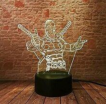 Marvel 3D Led Nachtlicht Energiesparendes Licht