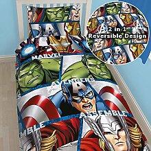 Marvel Avengers Assemble, wendbar, Bettwäsche,
