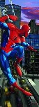 Marvel Comic Heroes - Fototapete Bildtapete -Spiderman New York City 202x73