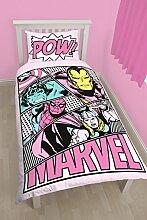 Marvel Comics Mädchen Bettwäsche-Set