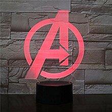 Marvel Figure Projektionslampe Fernbedienung 3D