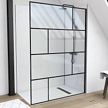 Marwell Walk-in-Dusche Bricks, 140 x 195 cm, ohne
