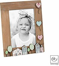 Mascagni Bilderrahmen aus Holz für Kinder, bunt,