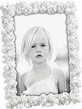 Mascagni Bilderrahmen Weiß mit Blüten 13x