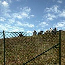 Maschendrahtzaun 1,25 x 25 Meter Komplett Set Gartenzaun Zaunset Drahtzaun Komplettset Zaun-Se