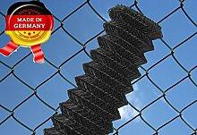 Maschendrahtzaun 60 x 60 mm, 25 ldm 80 cm anthrazit - schwarz Maschendraht Zaun Rolle Zaunrolle