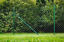 Maschendrahtzaun Zaun Gartenzaun Komplettset Zaunsatz 15 x 1,25 m grün geprüf