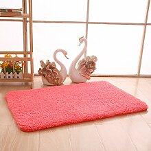 Maschine waschbar Schlafzimmer Nacht Küche Platz Badezimmer Badezimmer Antirutsch - Matratze Türmatten in die Tür (Pink)