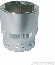 Maschinenbau Steckschlüsseleinsätze Stecknuss 1/5,1cm Drive Metrisches 25mm chrom-vanadium-Stahl Hex Metrisches Socket. Verchromt Satin Stahl Finish. abgeschrägter Ende für positive Mutter Standort. Radius Design für zusätzliche Drehmoment und lange Lebensdauer. gerändelt Band, die sich Ball Loch. Zu DIN3124/ISO2725und DIN3120/ISO1174.