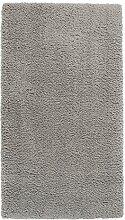Maschinenwebteppich Hochflorteppich Zottelteppich Shaggyteppich SMOOTH 2 | 80x150 cm | Silberfarben