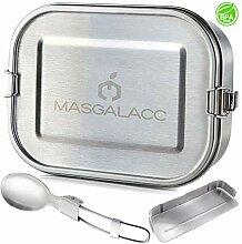 Masgalacc Brotdose Edelstahl mit herausnehmbarer