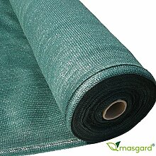 Masgard® Schattiergewebe 150 g/m² verschiedene Abmessungen (Schattierwert ca. 90%) Sonnenschutz Sichtschutz Windschutz Zaunblende (1,50 m x 50,00 m = 75 m² (Rolle))