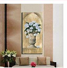 Mashanglaile Vase Blumenölgemälde Klassischer