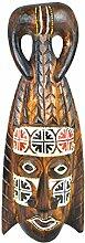 Maske afrikanischen aus Holz 30cm Dekoration Afrika.