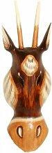 Maske Antilope 30 cm, Holz-Maske aus Bali,